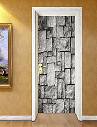 Недорогие -Наклейка на стену Дверные наклейки - 3D наклейки 3D Съемная