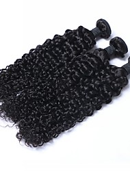 cheap -Indian Hair Curly Human Hair Extensions 3 Bundles Human Hair Weaves Relaxed Fit Women's