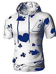 abordables -Tee-shirt Homme, Géométrique Imprimé Basique