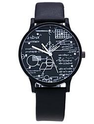 Недорогие -Муж. Жен. Модные часы Нарядные часы Уникальный творческий часы Кварцевый Стеганная ПУ кожа Черный / Коричневый / Серый Повседневные часы Имитация Алмазный Аналоговый Классика На каждый день Мода -