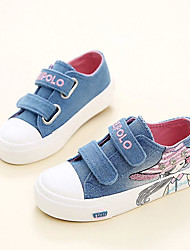 cheap -Girls' Shoes Canvas Fall Comfort Sneakers for Kid's Dark Blue / Pink / Light Blue