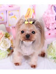 baratos -Cachorros Gatos Acessórios de Cabelo Laços Roupas para Cães Slogan Laço Cor Aleatória Terylene Ocasiões Especiais Para animais de