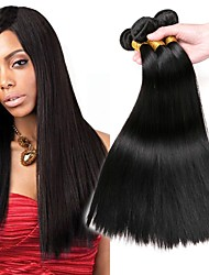 cheap -Brazilian Hair Straight Human Hair Weaves 3pcs Hot Sale Extention Human Hair Extensions All Christmas Gifts Christmas Wedding Party