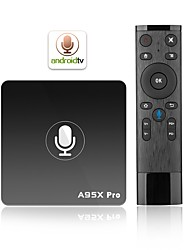 preiswerte -A95X PRO TV Box Android7.1.1 TV Box Amlogic S905W Quad Core 2GB RAM 16GB ROM Penta Core