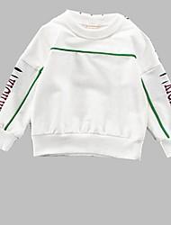 abordables -Unisexe Quotidien Sports Imprimé Pull à capuche & Sweatshirt, Coton Printemps Automne Manches Longues Actif Blanc Jaune