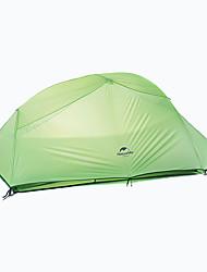 Недорогие -Naturehike 3 человека Туристические палатки Двухслойные зонты Карниза Сферическая Палатка На открытом воздухе Дожденепроницаемый, Быстровысыхающий, С защитой от ветра для 2000-3000 mm