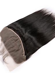 baratos -Guanyuwigs Mulheres Liso 5x13 Encerramento Cabelo Brasileiro Tela Suiça Cabelo Remy Parte gratuito Parte Médio Parte 3 Com Baby Hair
