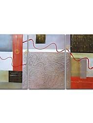 Недорогие -styledecor® современная ручная роспись линии, холст, масло, живопись, настенное искусство, готовое повесить искусство