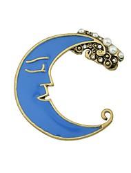 baratos -Mulheres Broches - MOON Básico, Fashion Broche Azul Para Diário / Encontro