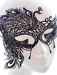 Недорогие -Праздничные украшения Halloween / Украшения для Хэллоуина Halloween / Маски на Хэллоуин Для вечеринок / Свадьба Черный 1шт