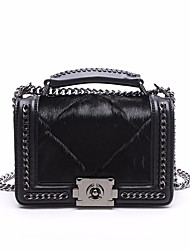 cheap -Women's Bags Shoulder Bag Feathers / Fur for Casual Black