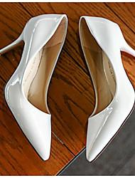preiswerte -Damen Schuhe PU Frühling Herbst Pumps Komfort High Heels Stöckelabsatz für Schwarz Grau Rot