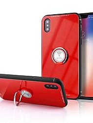 Недорогие -Кейс для Назначение Apple iPhone X / iPhone 8 Кольца-держатели / Зеркальная поверхность Кейс на заднюю панель Однотонный Твердый ТПУ для iPhone X / iPhone 8 Pluss / iPhone 8
