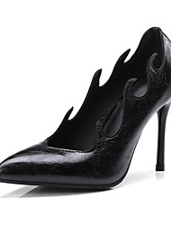 Недорогие -Жен. Обувь Дерматин Лето / Осень Удобная обувь / Оригинальная обувь Обувь на каблуках На шпильке Заостренный носок Белый / Черный / Винный