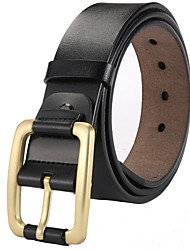 cheap -Men's Active Basic Leather Waist Belt - Solid Colored