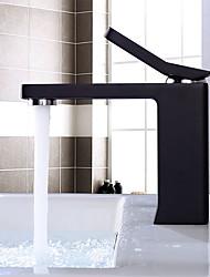 preiswerte -Waschbecken Wasserhahn - Verbreitete Chrom Korrektur Artikel Schwarz Mittellage Einhand Ein Loch