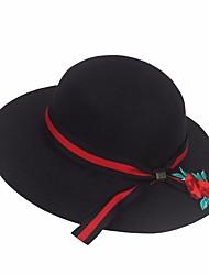 abordables -Mujer Lazo, Poliéster Sombrero Playero - Fiesta Activo Un Color