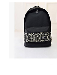 cheap -Women's Bags Polyester / Nylon School Bag Zipper Blue / White / Red