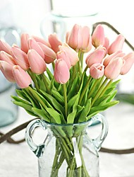 cheap -Artificial Flowers 10 Branch Rustic / Party Tulips / Eternal Flower Tabletop Flower
