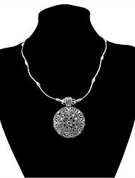 abordables -Femme Tanzanite synthétique Pendentif de collier  -  Rétro / Mode Forme Géométrique Argent 45+5cm Colliers Tendance Pour Plein Air /