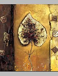 abordables -Pintura al óleo pintada a colgar Pintada a mano - Naturaleza muerta / Floral / Botánico Tradicional Lona