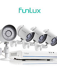 cheap -Funlux® 4CH 1080p HDMI NVR Simplified PoE 4x 720p HD Outdoor/Indoor Security Camera System