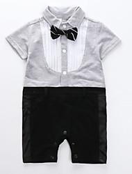 Недорогие -малыш Мальчики Однотонный С короткими рукавами Набор одежды