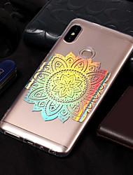 baratos -Capinha Para Xiaomi Redmi Note 5 Pro / Redmi 5A Galvanizado / Estampada Capa traseira Mandala Macia TPU para Xiaomi Redmi Note 5 Pro /