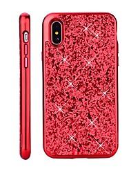 abordables -Funda Para Apple iPhone X / iPhone 8 Cromado / Brillante Funda Trasera Brillante Dura ordenador personal para iPhone X / iPhone 8 Plus / iPhone 8