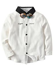 economico -Bambino / Bambino (1-4 anni) Da ragazzo Monocolore / Collage Manica lunga Camicia