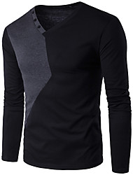 economico -T-shirt Per uomo Attivo Essenziale Monocolore