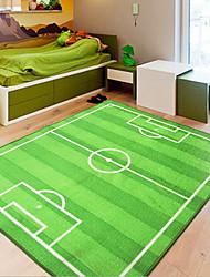 baratos -Os tapetes da área Esporte & lazer Poliéster, Quadrangular Qualidade superior Tapete