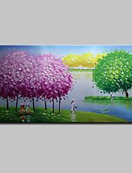 abordables -mintura® peint à la main moderne abstrait couleur arbre paysage peinture à l'huile sur toile mur photo d'art pour la décoration maison prêt à accrocher