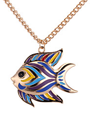 cheap -Pendant Necklace - Fish European, Fashion, Colorful Gold, Silver 62 cm Necklace For Daily