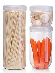Недорогие -Кухонная организация Хранение продуктов питания / Коробки для хранения ПП (полипропилен) Аксессуар для хранения 3шт