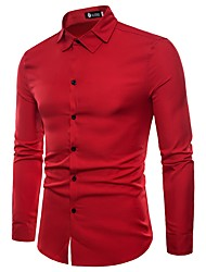 cheap -Men's Business Exaggerated Shirt - Solid Colored