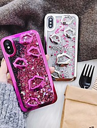 economico -Custodia Per Apple iPhone X / iPhone 8 / iPhone 8 Plus Fantasia / disegno / Glitterato Per retro Glitterato Morbido TPU per iPhone X /