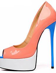 povoljno -Žene Cipele PU Proljeće ljeto Obične salonke Cipele na petu Stiletto potpetica Peep Toe za Zabava i večer žuta