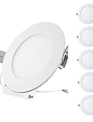 cheap -ZDM® 6pcs 3W 15 LEDs Easy Install / Recessed LED Panel Lights / LED Downlights Warm White / Cold White / Natural White 85-265V Ceiling /