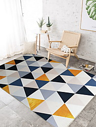 baratos -Os tapetes da área Casual / Modern Mistura de Algodão / Poliéster, Rectângular Qualidade superior Tapete