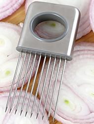 abordables -Outils de cuisine Inoxydable Solidité Creative Kitchen Gadget Outils Oignon porc Support 1pc