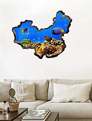 Недорогие -Декоративные наклейки на стены - 3D наклейки Наклейки для животных Животные 3D Гостиная Спальня Ванная комната Кухня Столовая Кабинет /