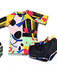 cheap -Women's Bikini - Solid Colored / Geometric / Color Block Lace up / Print Boy Leg