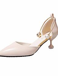 preiswerte -Damen Schuhe PU Frühling Herbst Pumps Komfort High Heels Keilabsatz für Normal Schwarz Beige Braun