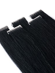 cheap -Neitsi Tape In Human Hair Extensions Straight Black Blonde Extension Remy Human Hair Brazilian Hair 1pack Silky / Women / Extention Women's