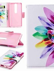 Недорогие -Кейс для Назначение Nokia Nokia 6 2018 Nokia 5 Бумажник для карт Кошелек со стендом Флип С узором Чехол Цветы Твердый Кожа PU для Nokia 8