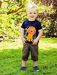 Недорогие -Дети / Дети (1-4 лет) Мальчики Лев Пэчворк С короткими рукавами Футболка