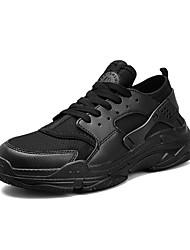 cheap -Men's Net / Tulle / Mesh Summer Comfort Athletic Shoes White / Black / Red