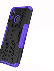 Недорогие -Кейс для Назначение Huawei P20 lite / P20 Pro Защита от удара / со стендом / броня Кейс на заднюю панель Плитка / броня Твердый ПК для