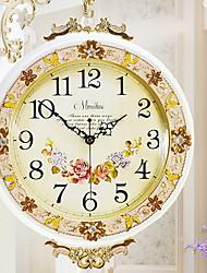 abordables -Européen Cuivre huilé Rond Horloge Intérieur,5W Horloge artisanale